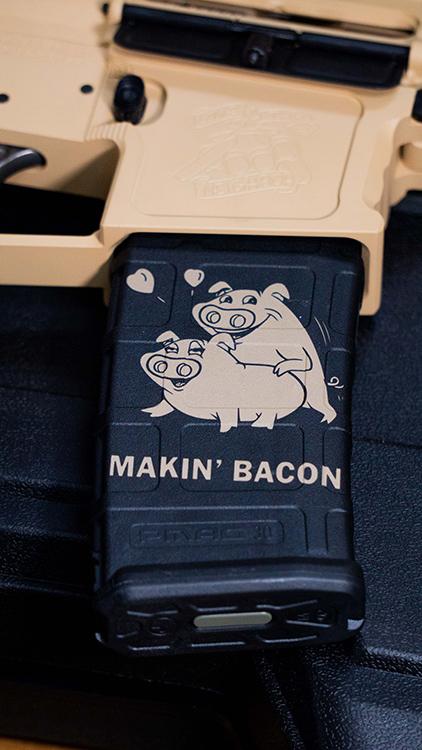 Making Bacon Magazine Decal