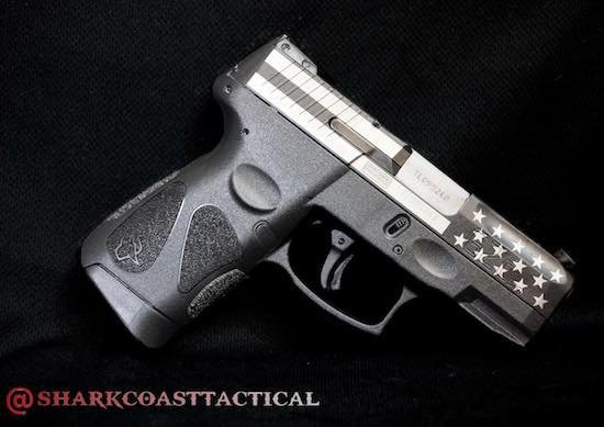 right side of taurus handgun