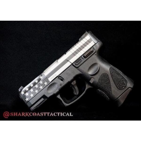 left side of taurus handgun