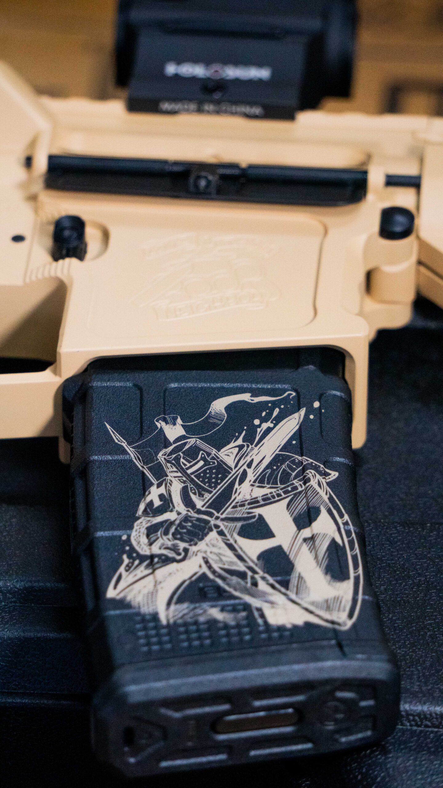 Crusader magazine decal