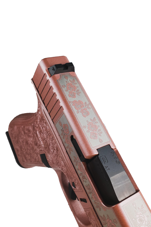 rose colored glock handgun